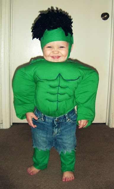 Baby Hulk Costume...I will do this to my kid!!