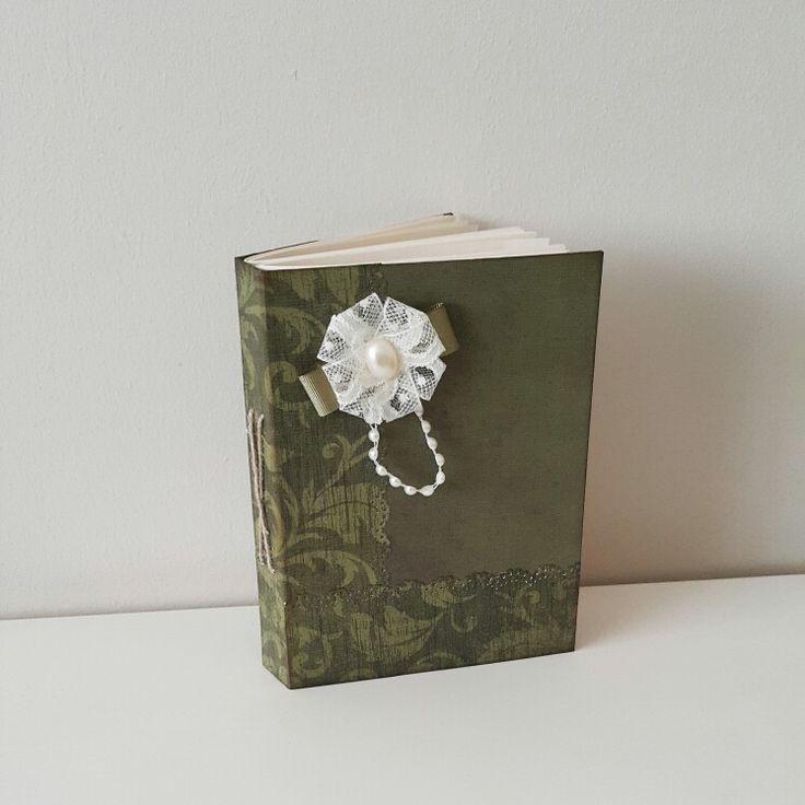 Green-cream notebook