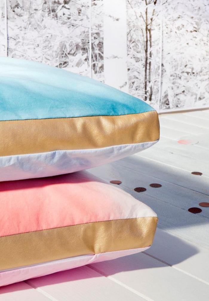 coussins de sol, grands poufs rectangulaires en couleurs pastels