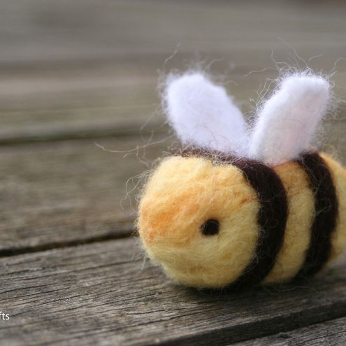 This by far is the most adorable bumbly bee I've ever seen...I just had to buy one! You can have one too... http://www.folksy.com/items/1864697-Bertie-Bumble-Bee?shop=yes