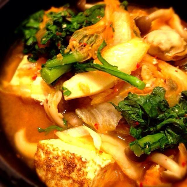 辛旨! - 7件のもぐもぐ - 牡蠣キムチ鍋 by jmode