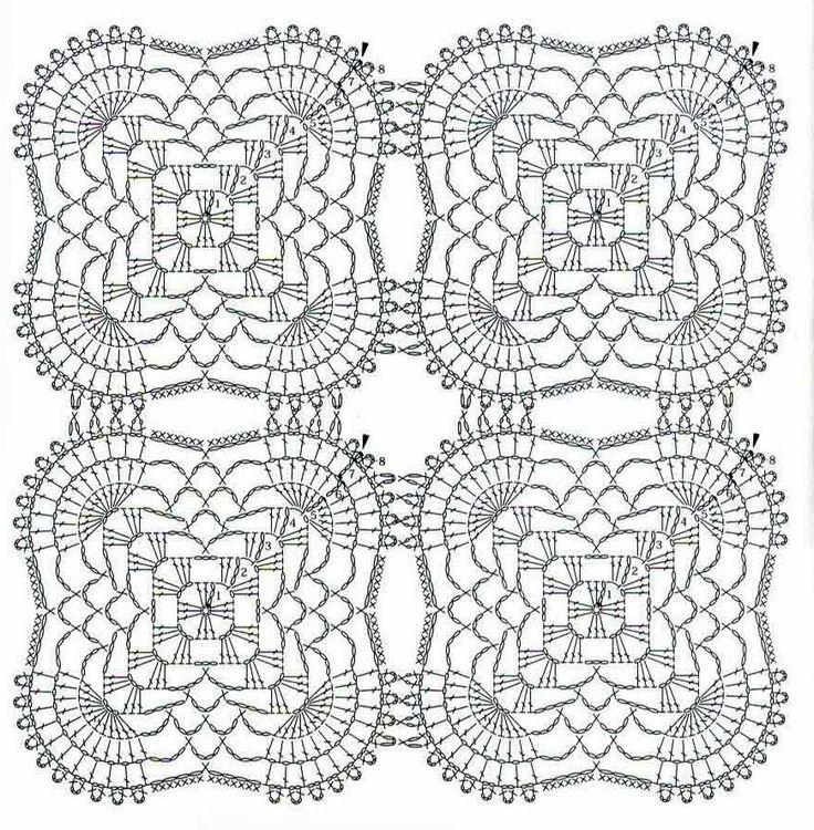 tejidos artesanales en crochet: mantel rectangular tejido en crochet