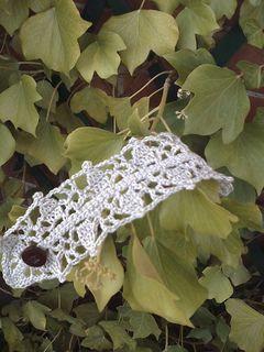 Gothic bracelet to crochet...FREE PATTERN!