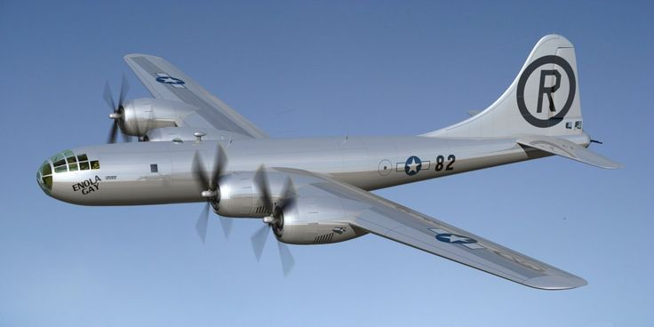 Boeing B-29 Enola Gay Superfortress.