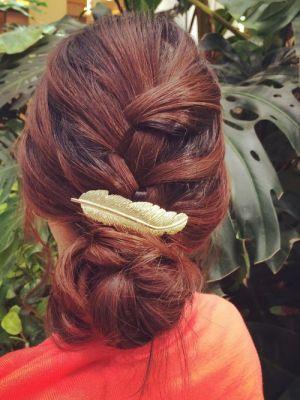 編み込みアレンジ。両家顔合わせ・結納の髪型「お団子」のアイデアを集めました!