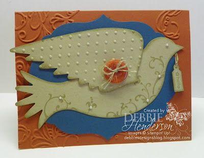 Stampin' Up! Elegant Bird Die by Debbie Henderson, Debbie's Designs.