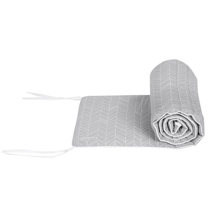 Babybett Nestchen 'Blätter' hellgrau/weiß 180x30cm