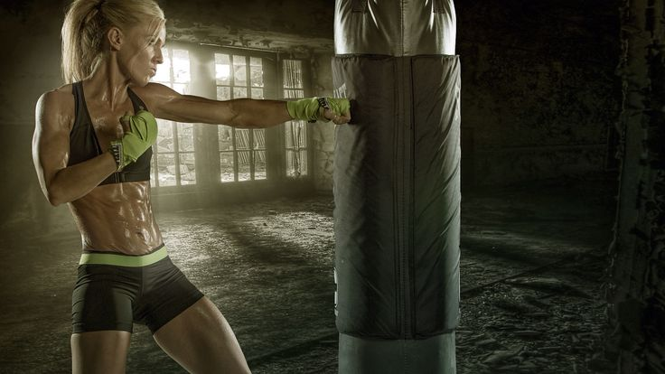 Female Fitness Boxing Workout