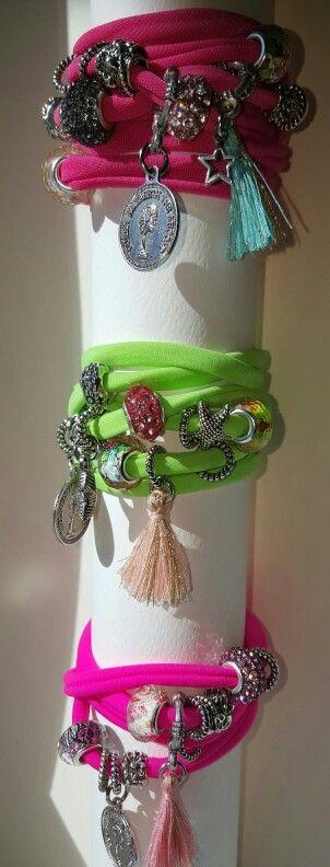 Summer lycra bracelets