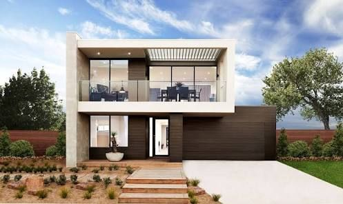 contemporary double story house facades australia - Google Search