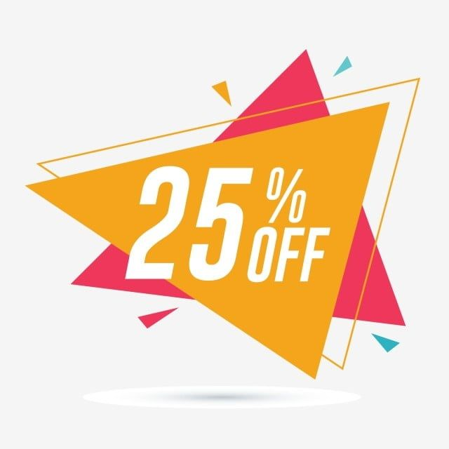 25 Off Discount And Sale Promotion Banner Friday Clipart Discount Offer Png And Vector With Transparent Background For Free Download Banner Vector Sale Promotion Banner