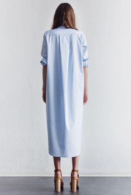 SHIRT-DRESS AKER PALE SKY | Rodebjer