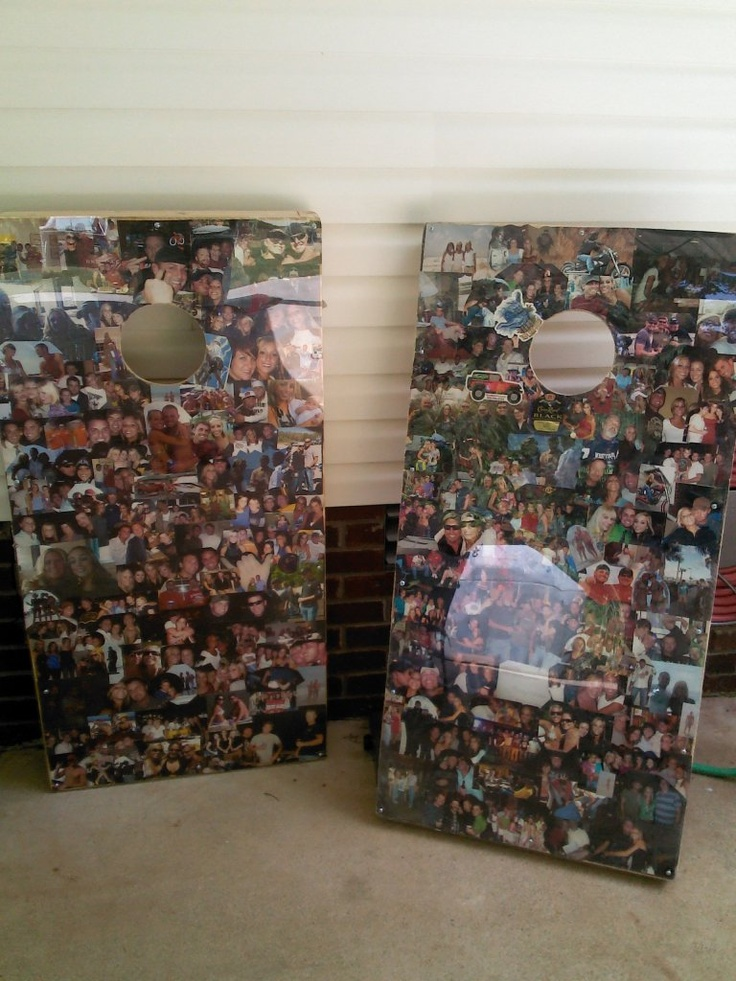 Picture Cornhole Boards. These are awesome!!