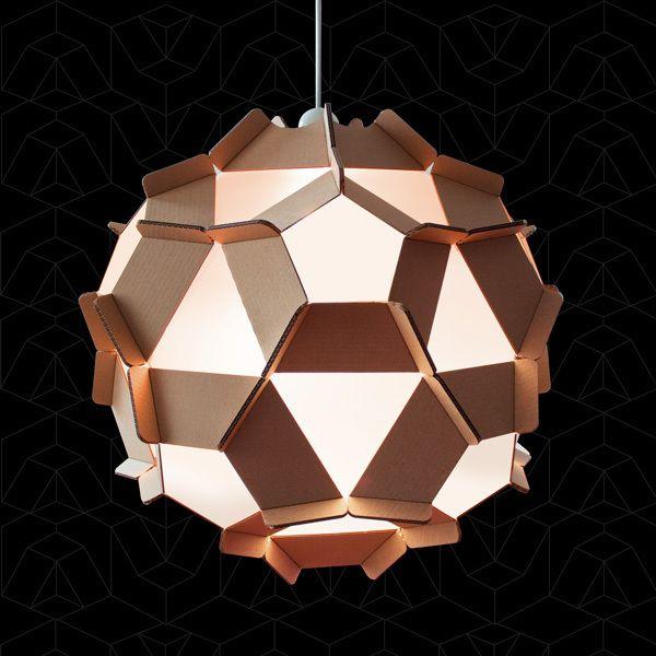 Cardboard Design / Sirius Lamp by Luis Vanegas, via Behance