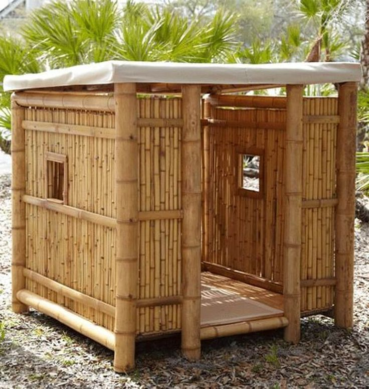 You can usefully make the use of the bamboo for the stylish creation of the playhouse as well. Mostly the kids love to play out in the summer season and in such conditions the placement of the bamboo simple playhouse can come across as much helpful and beneficial both.