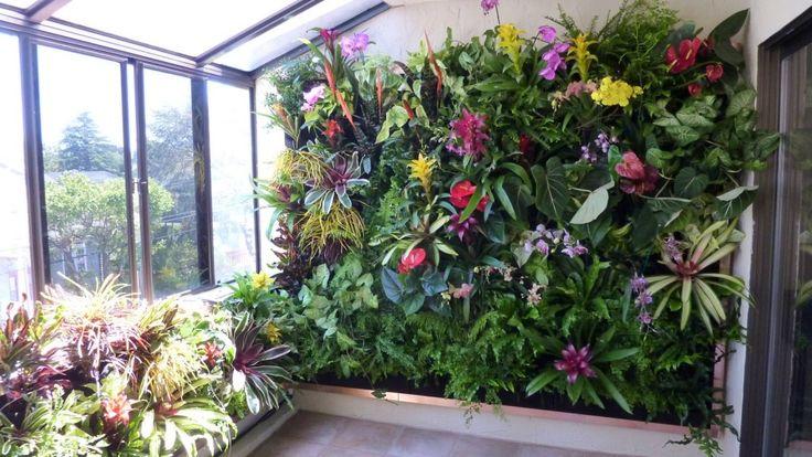 Piękne ogrody wertykalne we wnętrzach  