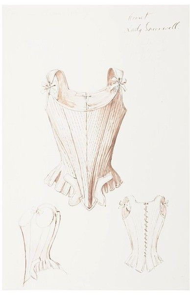 """cupcake-curiosities: """" Corset design by Oliver Messel. 1958. Designed for 'Sheridan's The School for Scandal' """""""