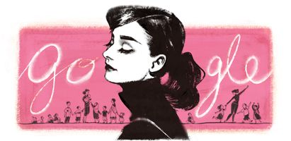 Today on the Google home page worldwide is a special Google Doodle, aka Google logo, for Audrey Hepburn.  Audrey Hepburn would have been 85 years old today, passing at the age of 63 on January 20, 1993 in Tolochenaz, Vaud...