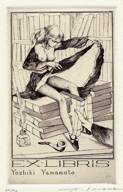 Erotic ex libris alphonse inoue 5