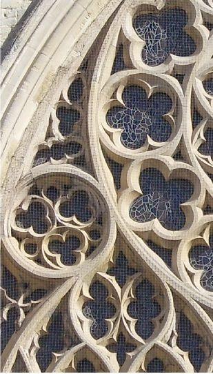 Gothic Architecture, this shows tracery, rossettes, quatrofoils  trefoils.