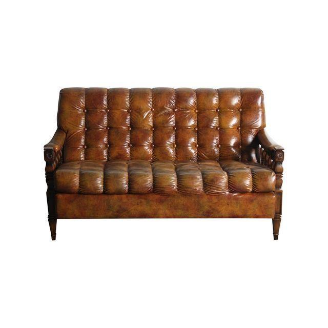 Image of 1970s Spanish Revival Tortoiseshell Love Seat