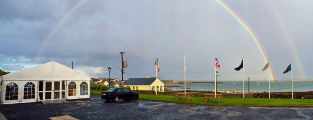 double rainbow over Kilronan Bay