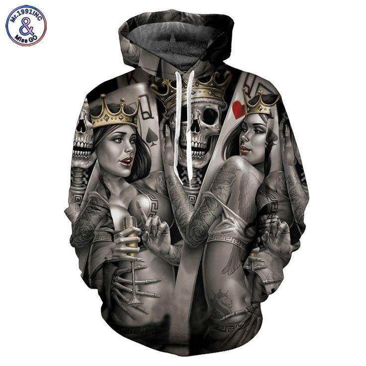 High Quality Fashion Men/Women 3D Printed Metal Skulls Bride Sweatshirt //Price: $39.45 & FREE Shipping //     #3dwear