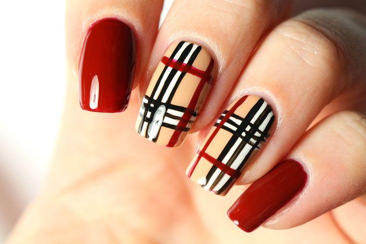 Un nail art Burberry très facile (tuto video)