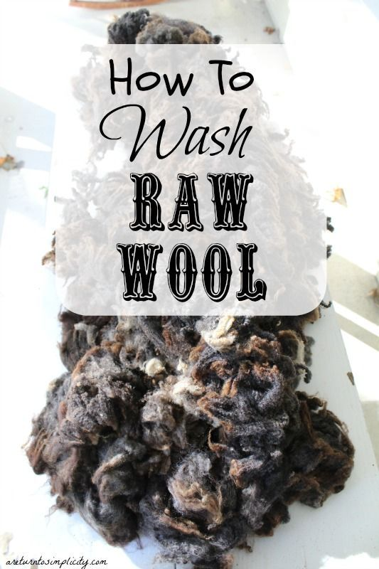 Interested in learning how to wash your own wool? The first in a series on processing raw wool! How to Wash Raw Wool | areturntosimplicity.com