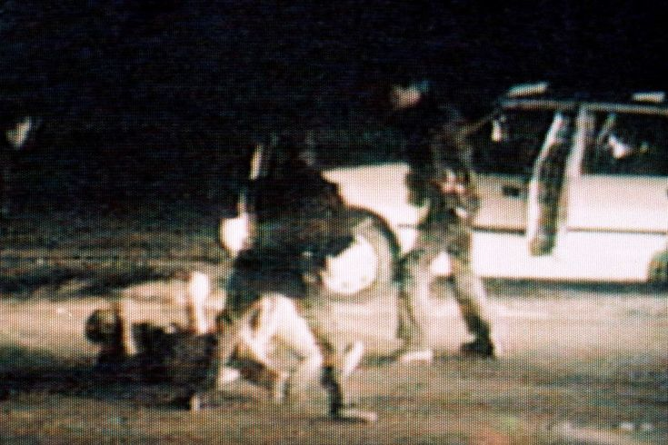 rodney king riots | Rodney King (on ground) is beaten by police officers in 1991.