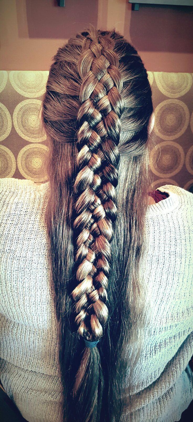 5 strand braid by Mandy Diedrich @FantasyBraidingandHairstyles