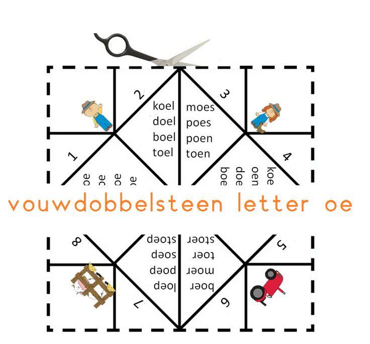 Vouwdobbelsteen letter oe