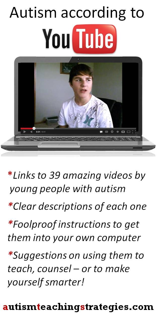 YouTube videos made by people with autism have amazing potential for social skills teaching, mental health, speech and special ed teaching.  Also, they are just fascinating.