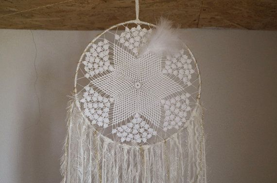Wedding dream catcher. White dreamcatcher. Vintage by fundart