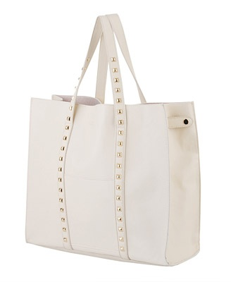 Studded Tote - White   by Forever 21Forever 21, Fashion, Style, 21 Studs, Totes Bags, Totes 3280, Editor Eva, Studs Totes, 3280 Forever21
