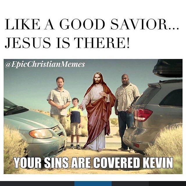 Lol #likeagoodneighbor #likeagoodsavior by epicchristianmemes