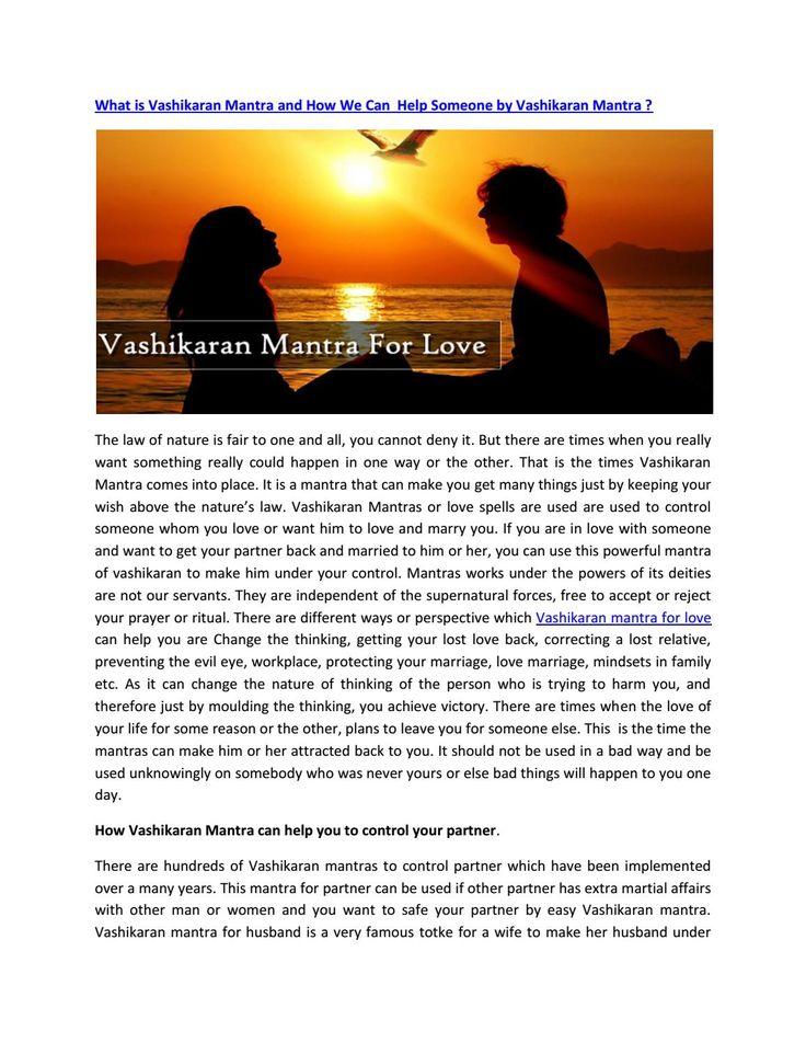 What is vashikaran mantra and how we can help someone by vashikaran mantra