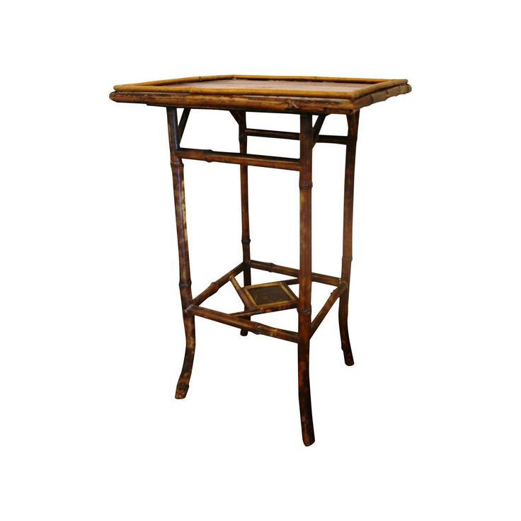 Image of Antique Bamboo Table with Painted Top