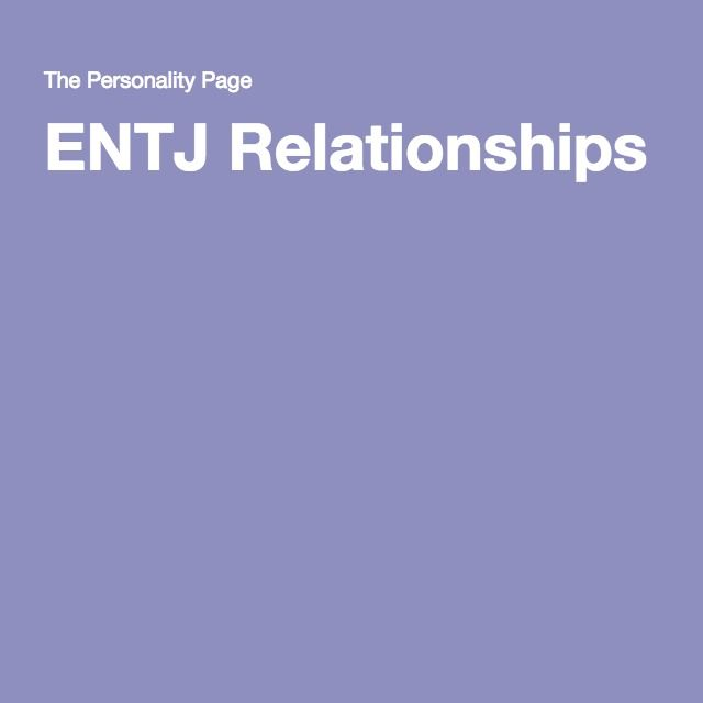 entj and infj relationship