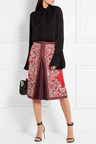 Alexander McQueen   Paisley-print silk-twill skirt   NET-A-PORTER.COM