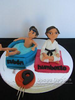 Doces Opções: Topo de bolo para o aniversário de dois amigos