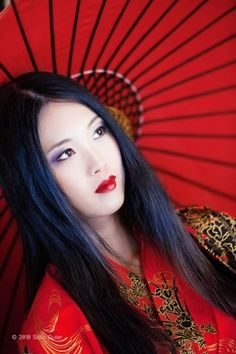 asian red and black