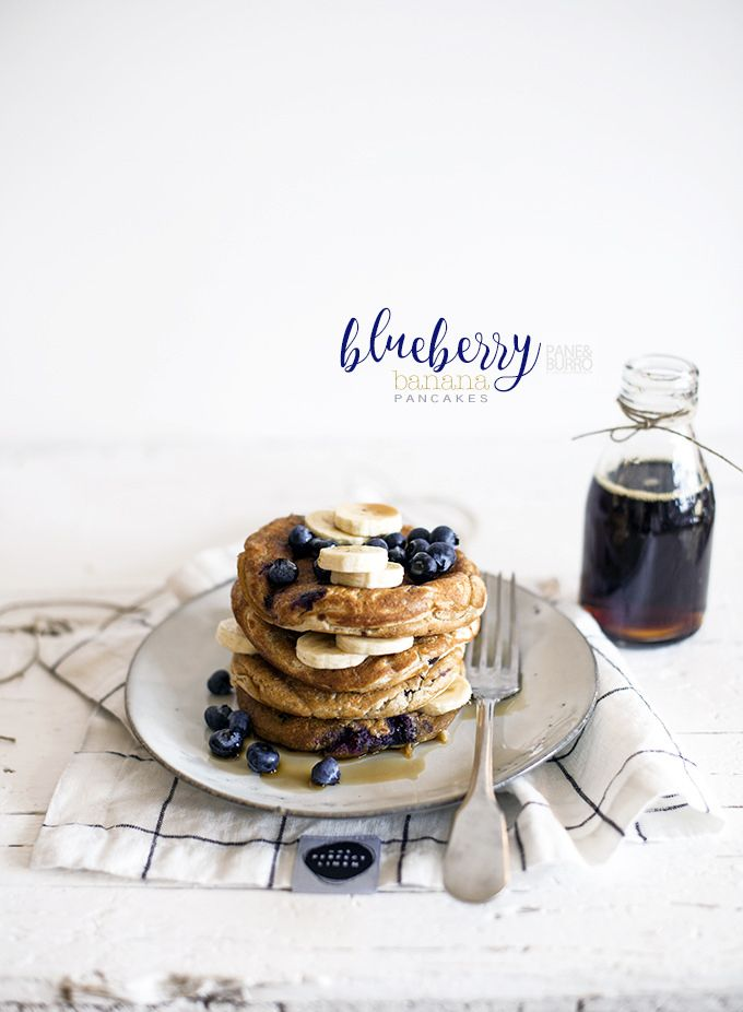 blueberry banana pancakes by www.pane-burro.blogspot.it
