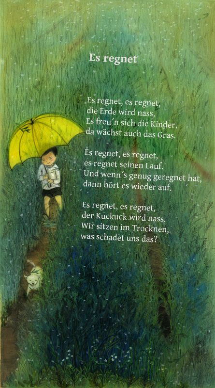 Es regnet, es regnet, die Erde wird naß...