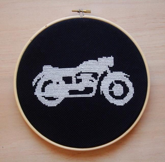 motorcycle cross stitch