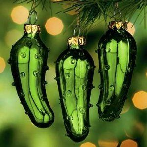 Traditional German Christmas Pickle...find the pickle on the tree and get an extra Christmas treat!