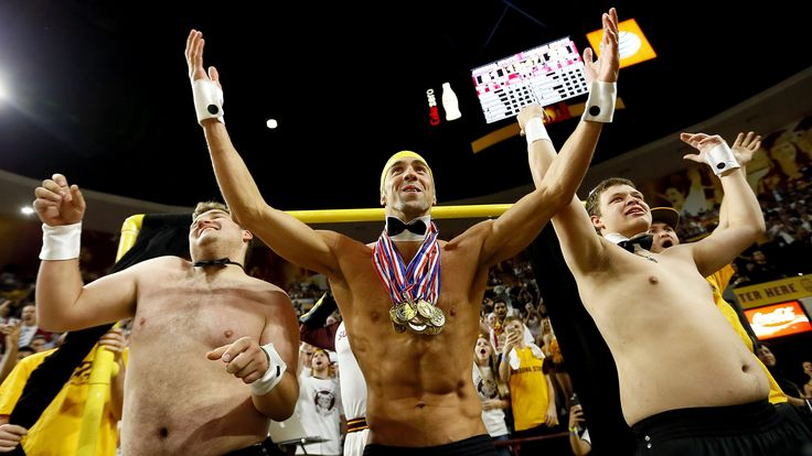 Michael Phelps and his Speedo distract free throw shooters at ASU game