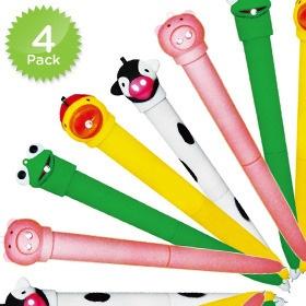 4-Pack of Fun Talking Animal Pens