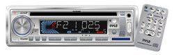 Stereo Radio Headunit Receiver MP3/USB/SD Readers CD Player Aux (3.5mm) Input AM/FM Radio Single DIN (White)