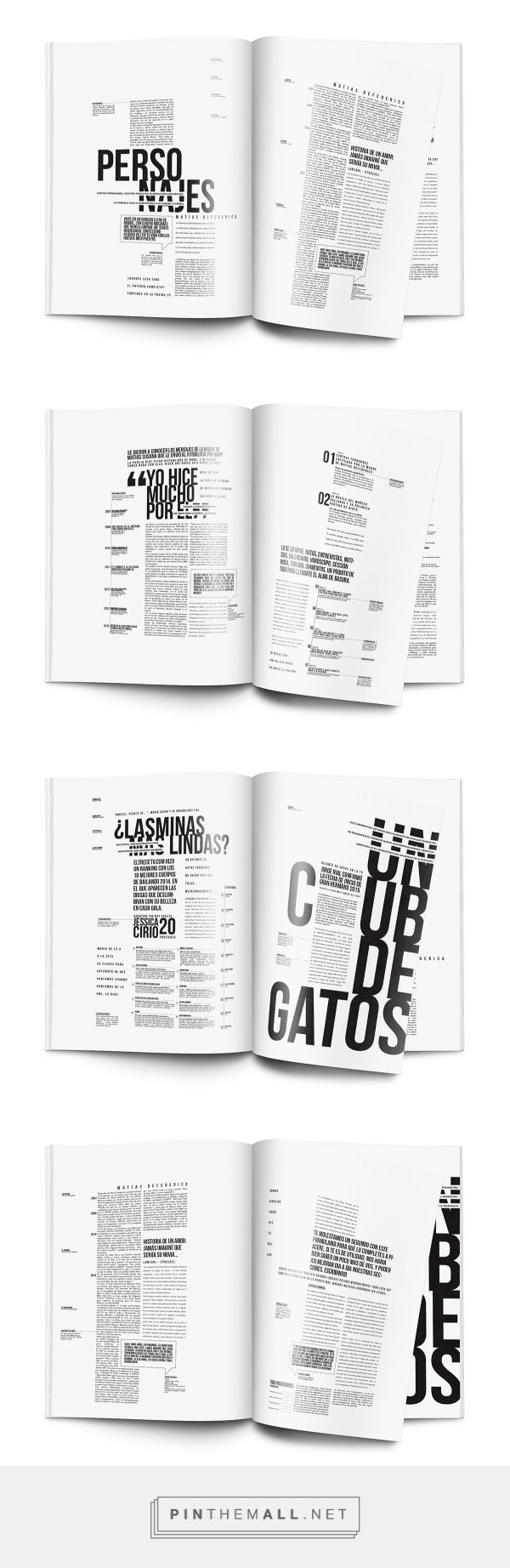 Editorial I longinotti 2- Revista on Behance... - a grouped images picture - Pin Them All